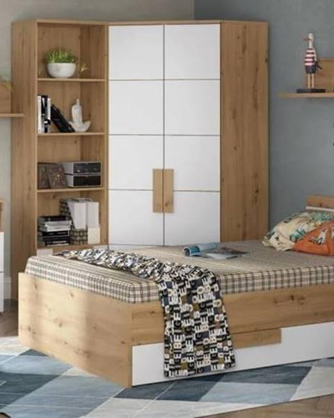 Béžová posteľ Forte