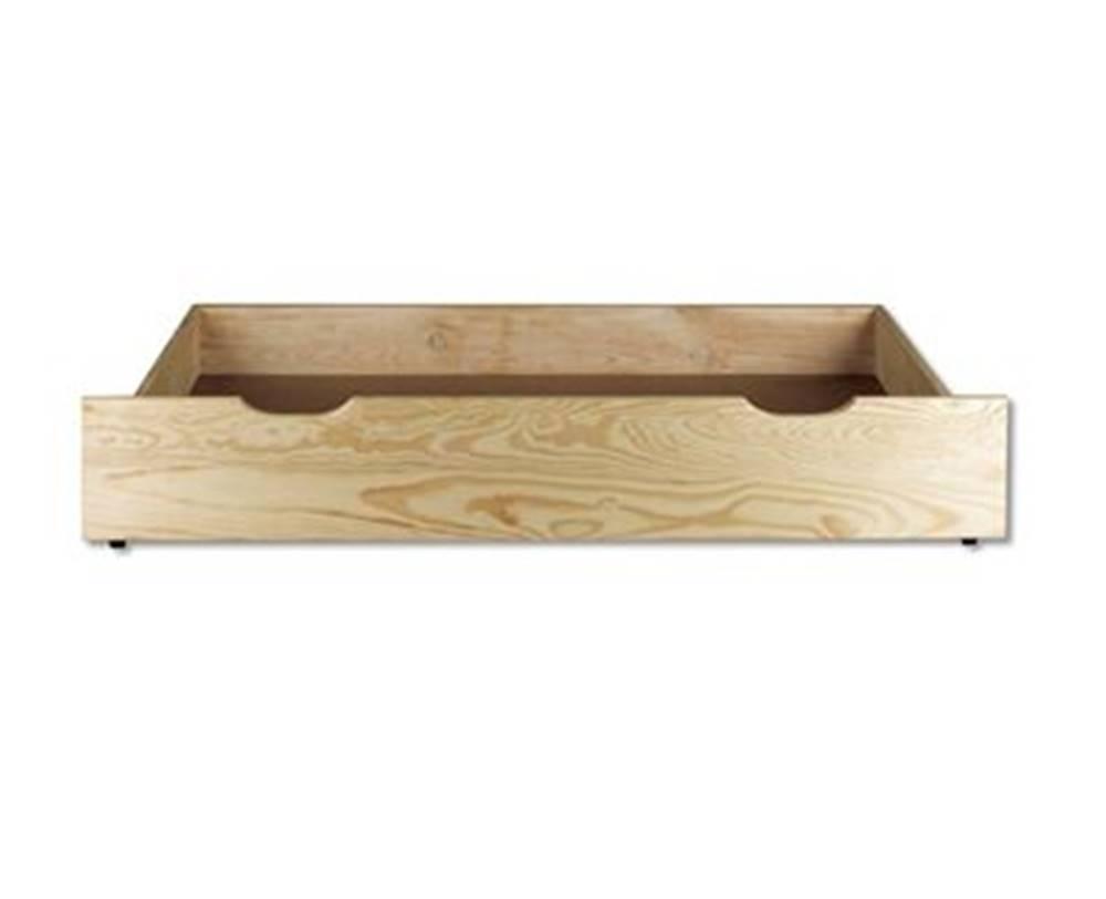 Drewmax Úložný box pod posteľ - masív LK151   borovica