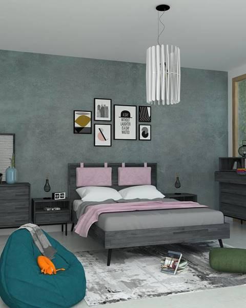 Sivá posteľ Livin Hill