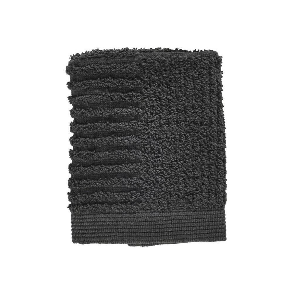 Zone Antracitovosivý uterák zo 100% bavlny na tvár Zone Classic, 30×30 cm