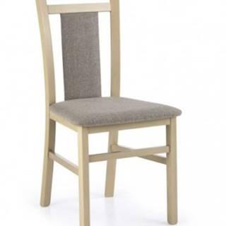 Jedálenská stolička Hubert 8 sivá, dub