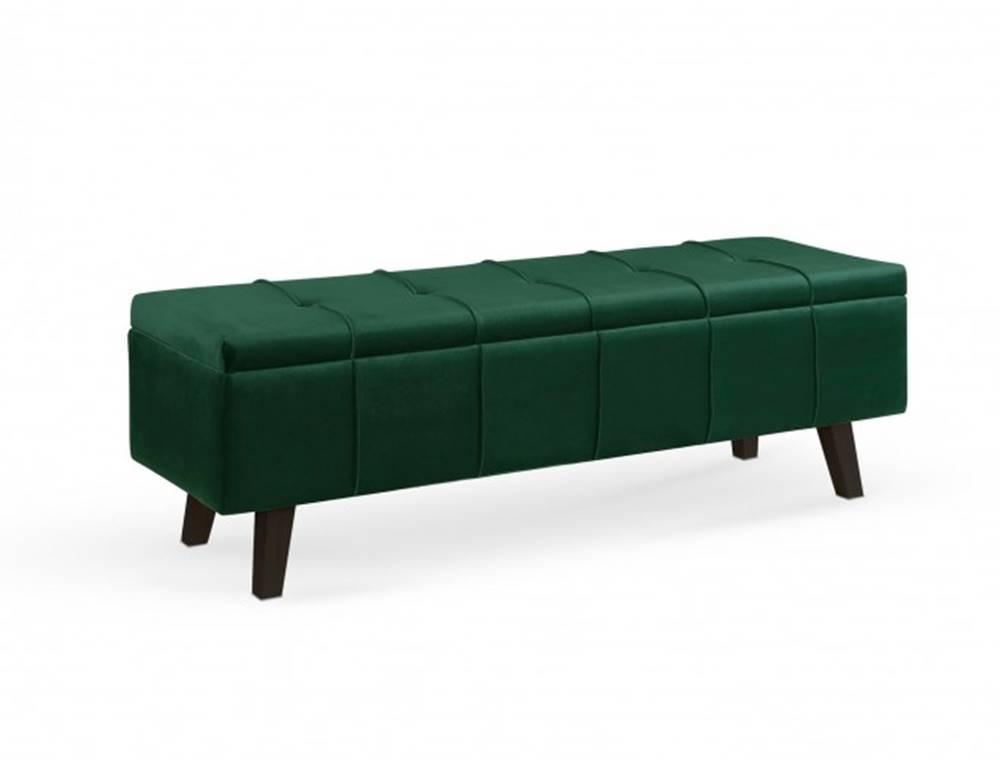 OKAY nábytok Taburetka Arlon obdĺžnik zelená ÚP