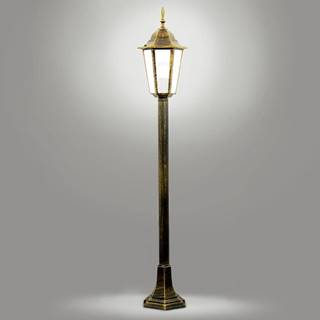 Stojaca záhradná lampa Liguria ALU1047 C6P patina LS1