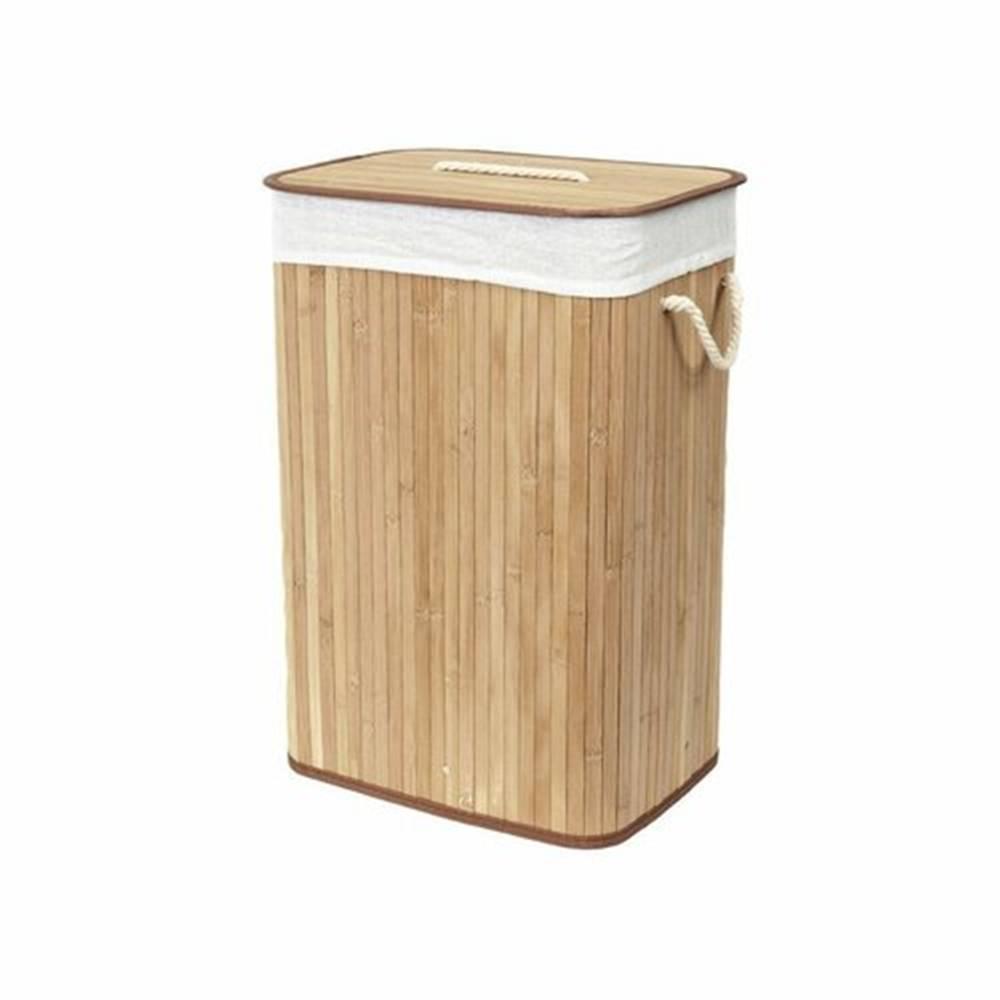 Compactor Compactor Kôš na špinavú bielizeň Bamboo hranatý, prírodná
