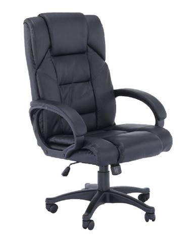 Kancelárske kreslo čierna ekokoža SIEMO NEW