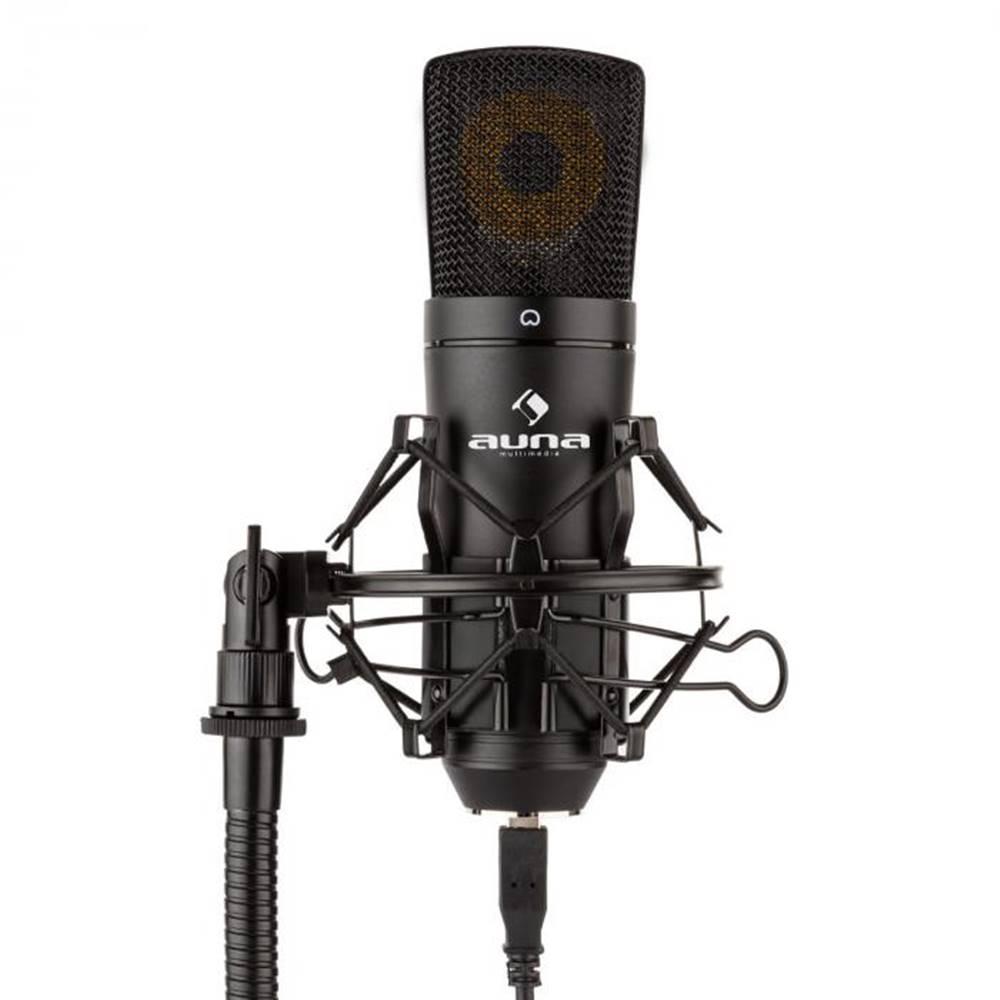 Auna Auna Pro MIC-920B, USB kondenzátorový mikrofón, štúdiový, veľkomembránový, čierna farba