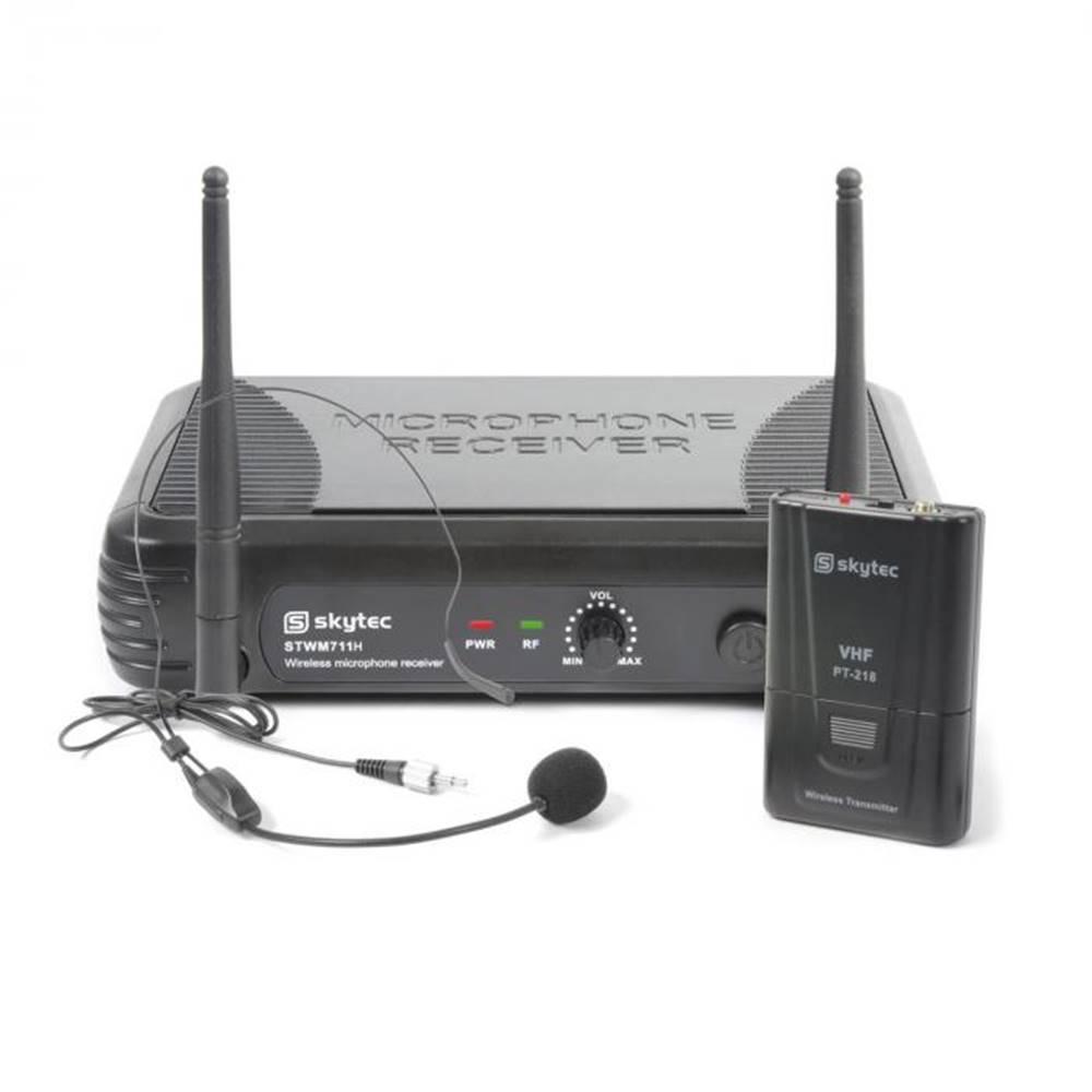 Skytec Skytec STWM711H Mikro Headset VHF technika, vysielač, prijímač a headset, čierna farba