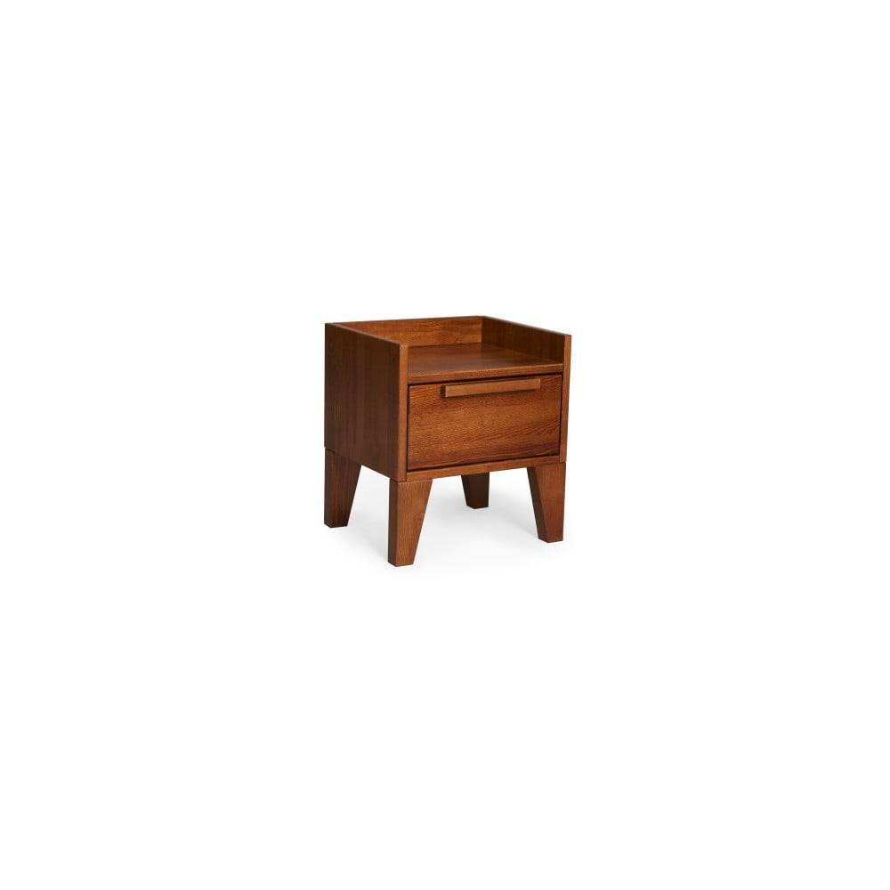 Skandica Nočný stolík z masívneho borovicového dreva SKANDICA Agava Dark