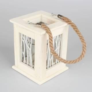 Drevený závesný lampáš Dakls Abram