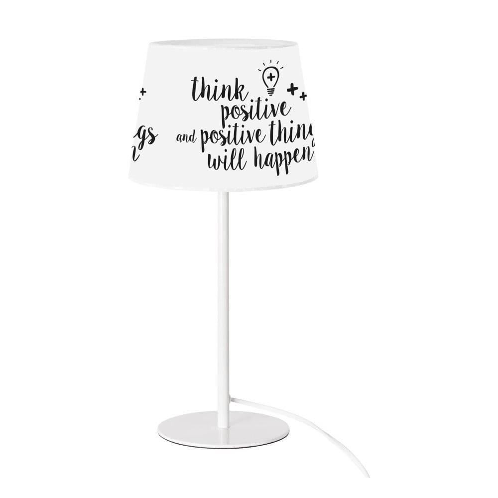 SULION Čierno-biela stolová lampa SULION Positive