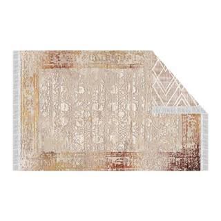 Obojstranný koberec béžová/vzor 120x180 NESRIN