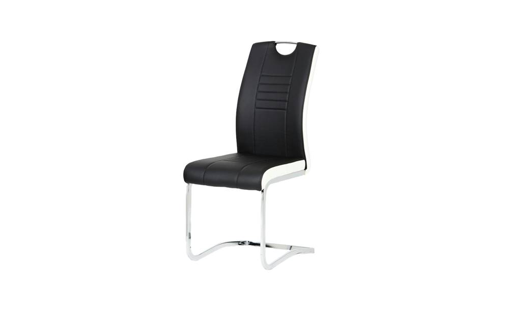 Sconto Jedálenská stolička ASHLEY čiernobiela